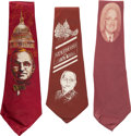 Political:Textile Display (1896-present), Harry S Truman: Three Great Political Silk Neckties....