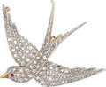 Estate Jewelry:Brooches - Pins, Belle Époque Diamond, Ruby, Platinum-Topped Gold Pendant-Brooch, J.E. Caldwell. ...