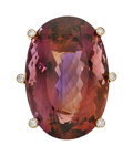 Estate Jewelry:Rings, Ametrine, Diamond, Gold Ring, Carvin French. ...