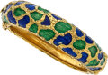 Estate Jewelry:Bracelets, Enamel, Gold Bracelet . ...