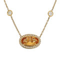 Estate Jewelry:Necklaces, Topaz, Diamond, Gold Necklace. ...