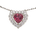 Estate Jewelry:Necklaces, Pink Tourmaline, Diamond, Platinum Necklace . ...