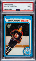 Hockey Cards:Singles (1970-Now), 1979 Topps Wayne Gretzky #18 PSA Mint 9 - Only Two Higher. ...