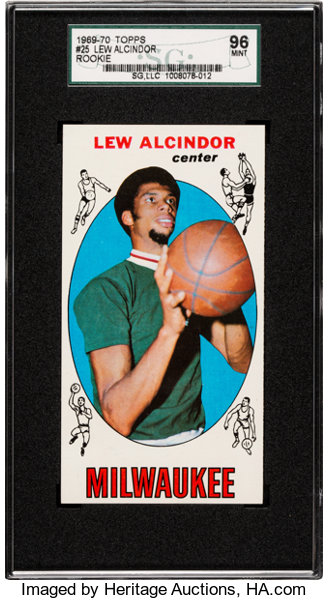 1969 Topps Lew Alcindor 25 Sgc 96 Mint 9 None Higher Lot