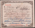Miscellaneous Collectibles:General, 1929 Prohibition Pharmacy Prescription for Whiskey....