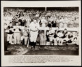 """Baseball Collectibles:Photos, 1948 """"Babe Ruth Acknowledges Stadium Cheers"""" Wire Photogra..."""