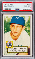 Baseball Cards:Singles (1950-1959), 1952 Topps Billy Martin #175 PSA NM-MT 8 - Only Two Higher....