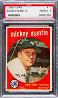 Baseball Cards:Singles (1950-1959), 1959 Topps Mickey Mantle #10 PSA NM-MT 8....