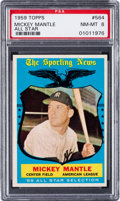 Baseball Cards:Singles (1950-1959), 1959 Topps Mickey Mantle All-Star #564 PSA NM-MT 8....
