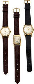 Timepieces:Wristwatch, Two Hamilton-Illinois, 10K Goldfilled Automatic A and Roll...