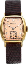 Timepieces:Wristwatch, Hamilton, Douglas, 10K Yellow Goldfilled, Manual Wind, Cir...