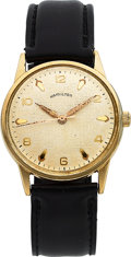 Timepieces:Wristwatch, Hamilton, Sea Breeze, 10K Yellow Rolled Gold Plate and Sta...
