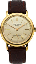 Timepieces:Wristwatch, Patek Philippe, Ref. 3440J, Fine 18k Yellow Gold Automatic, Circa 1960. ...