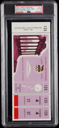 Olympic Collectibles:Autographs, 1960 Olympics (Rome) Basketball Full Ticket, PSA EX-MT 6....