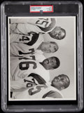 """Football Collectibles:Photos, c. 1960s Los Angeles Rams """"Fearsome Foursome"""" original Photograph, Encapsulated PSA Type I...."""