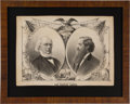 Political:Posters & Broadsides (pre-1896), Greeley & Brown: Graphic Jugate Lithographed Print....