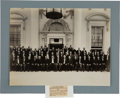 Political:Small Paper (1896-present), Theodore Roosevelt: Impressive Large Format Photograph of Dignitaries at the White House....