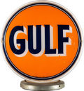 Advertising:Gas & Oil, Gulf Gasoline Pump Globe with Milk Glass Body....