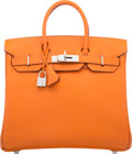 "Luxury Accessories:Bags, Hermès 28cm Orange Epsom Leather HAC Birkin Bag with Palladium Hardware. K Square, 2007. Condition: 3. 11"" Width x..."