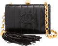 """Luxury Accessories:Bags, Chanel Black Lizard Mini Evening Clutch Bag with Gold Hardware. Condition: 2. 5.5"""" Width x 3.75"""" Height x 2.25"""" Depth..."""