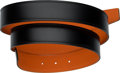 """Luxury Accessories:Accessories, Hermes 32mm Black Calf Box Leather & Orange H Togo Leather Belt Strap. T, 2015. Condition: 1. 48"""" Length. ..."""