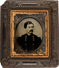 Political:Small Miscellaneous (pre-1896), George B. McClellan: Sixth Plate Ambrotype Hall Hanging.