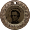 Political:Ferrotypes / Photo Badges (pre-1896), John C. Breckinridge: Back-to-Back Ferrotype Doughnut....