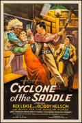 """Movie Posters:Western, Cyclone of the Saddle (First Division Pictures, 1935). Fine+ on Linen. One Sheet (27"""" X 41""""). Western.. ..."""