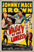"Movie Posters:Western, Valley of the Lawless (Supreme, 1936). Fine/Very Fine on Linen. One Sheet (27"" X 41""). Western.. ..."