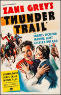 """Movie Posters:Western, Thunder Trail (Paramount, 1937). Fine on Linen. Trimmed One Sheet (25.75"""" X 41""""). Western.. ..."""