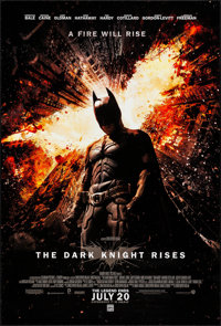 """The Dark Knight Rises (Warner Brothers, 2012). Rolled, Very Fine+. One Sheet (27"""" X 40"""") DS, Advance. Action..."""