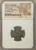 Ancients:Ancient Lots , Ancients: ANCIENT LOTS. Greek. Ca. 336-187 BC. AR and AE Lot ofthree (3). NGC VG-Choice Fine. ... (Total: 3 coins)