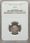Italian Somaliland, Italian Somaliland: Italian Colony. Vittorio Emanuele III 3-Piece Lot of Certified Rupia 1910-R NGC,... (Total: 3 coins)