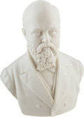 Political:3D & Other Display (pre-1896), James A. Garfield: Large Parian Ware Bust....