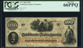 Confederate Notes:1862 Issues, T41 $100 1862 PF-6 Cr. 319 PCGS Gem New 66PPQ.. ...