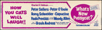 """What's New, Pussycat? (United Artists, 1965). Rolled, Fine/Very Fine. Silk Screen Banner (24"""" X 82""""). Comedy..."""