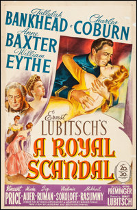 """A Royal Scandal (20th Century Fox, 1945). Fine+ on Linen. One Sheet (27"""" X 41""""). Comedy. From the Collection o..."""