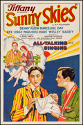 """Movie Posters:Comedy, Sunny Skies (Tiffany, 1930). Very Fine- on Linen. One Sheet (27"""" X41""""). Comedy. From the Collection of Frank Buxton, of w..."""
