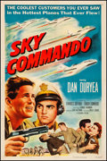 """Movie Posters:War, Sky Commando (Columbia, 1953). Very Fine- on Linen. One Sheet (27"""" X 41""""). War. From the Collection of Frank Buxton, of wh..."""