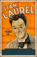 """Movie Posters:Comedy, Stan Laurel (Pinnacle, R-1930s). Good on Linen. Stock One Sheet(26.5"""" X 40""""). Comedy. From the Collection of FrankBuxton..."""