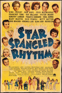 """Star Spangled Rhythm (Paramount, 1942). Good/Very Good on Linen. Trimmed One Sheet (approx. 26.5"""" X 40""""). Come..."""