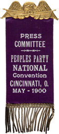Political:Ribbons & Badges, [Wharton Barker]: People's Party Convention Ribbon Badge....
