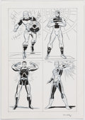 Original Comic Art:Illustrations, Dick Ayers - Four Super-Heroes Illustration Original Art (1995)....
