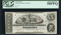 Confederate Notes:1863 Issues, T58 $20 1863 PF-24 Cr. 424 PCGS Choice About New 58PPQ.. ...