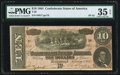 Confederate Notes:1864 Issues, T68 $10 1864 PF-42 Cr. 551 PMG Choice Very Fine 35 EPQ.. ...