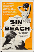 """Movie Posters:Sexploitation, Sin on the Beach & Other Lot (American Film Distributing, 1964). Folded, Fine+. One Sheets (2) (27"""" X 41""""). Sexploitation.. ... (Total: 2 Items)"""