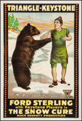 "Movie Posters:Comedy, The Snow Cure (Triangle-Keystone, 1916). Fine on Linen. One Sheet (27"" X 41""). Comedy.. ..."