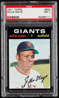 Baseball Cards:Singles (1970-Now), 1971 Topps Willie Mays #600 PSA NM 7....