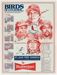 St. Louis Cardinals Greats Signed Display Lot of 5