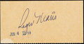 Autographs:Index Cards, c. 1960s Roger Maris Signed Valet Ticket....